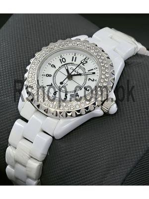 Chanel J12 White Ceramic Diamond Bezel Watch Price in Pakistan