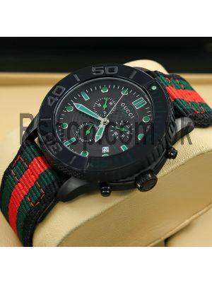 Gucci Men's G-Timeless Fabric Strap Sports Watch Price in Pakistan