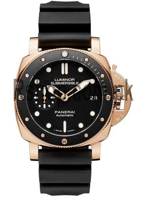 Panerai Submersible Rose Gold Goldtech Divers Watch Price in Pakistan