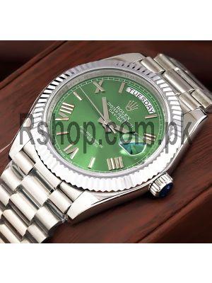 Rolex Day-Date Green Dial Swiss Watch Price in Pakistan