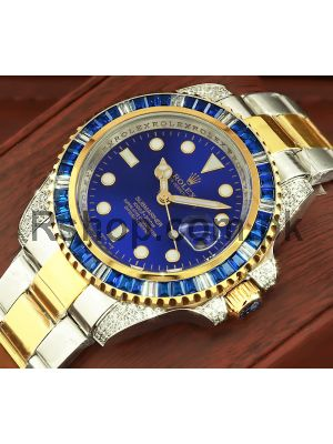 Rolex Submariner Date Blue Customized with Diamond Watch