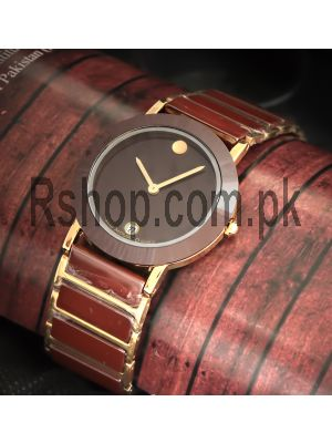 Movado Bold Brown Dial Two Tone Watch Price in Pakistan
